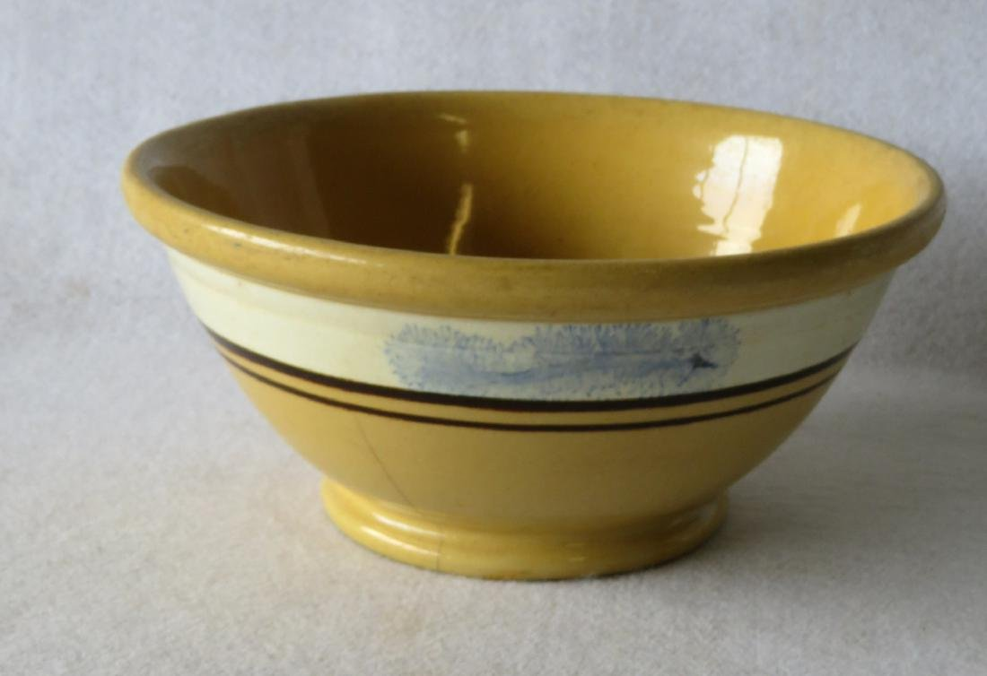 """Mocha bowl with seaweed decorations - 10.25""""D x 4.5"""" -"""