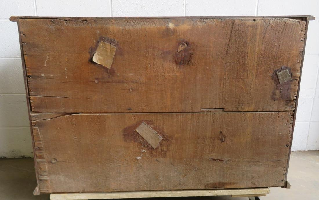 Chippendale flaming birch chest of drawer with 4 - 5