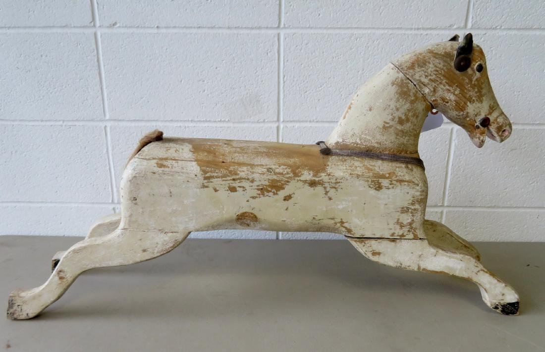 Old wooden hobby horse - missing saddle, harnesses and