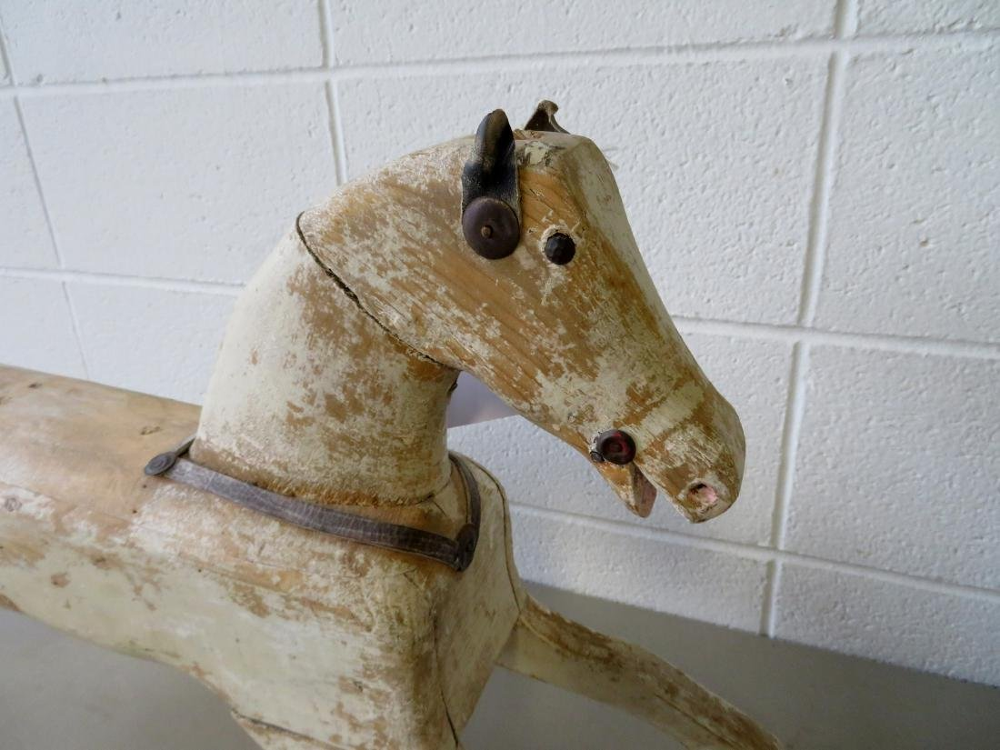 Old wooden hobby horse - missing saddle, harnesses and - 2