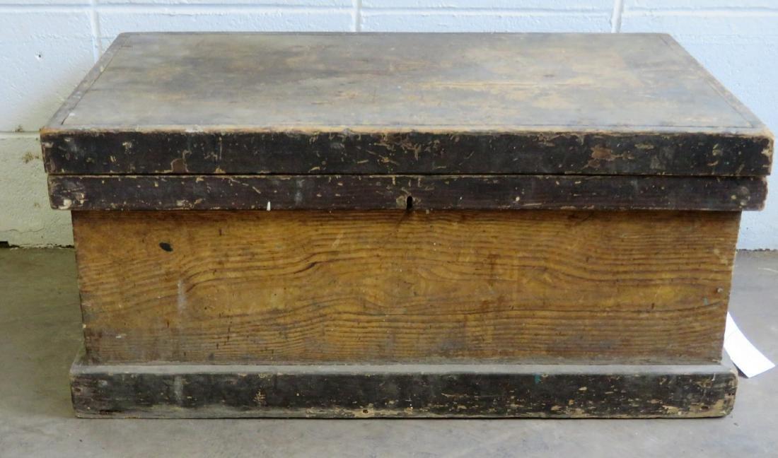 Grain painted Pennsylvania tool box in original mustard