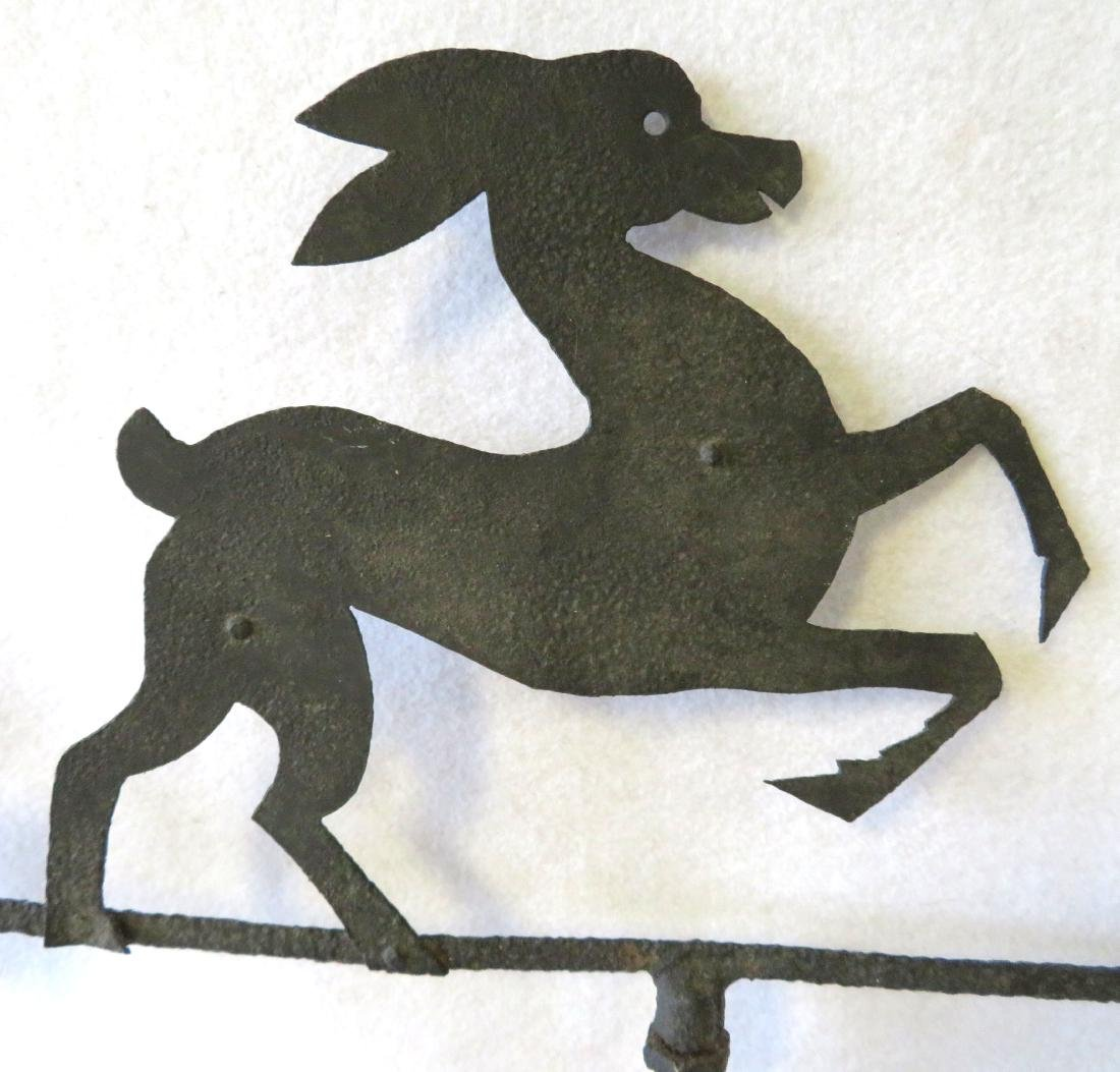 Sheet iron silhouette stylized leaping deer mounted on - 3