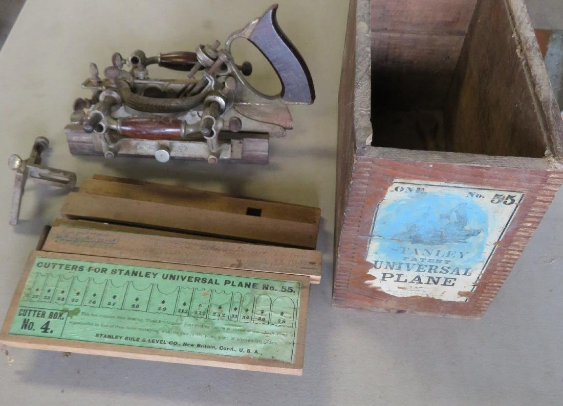 Stanley No. 55 Universal Plane in original box with 4