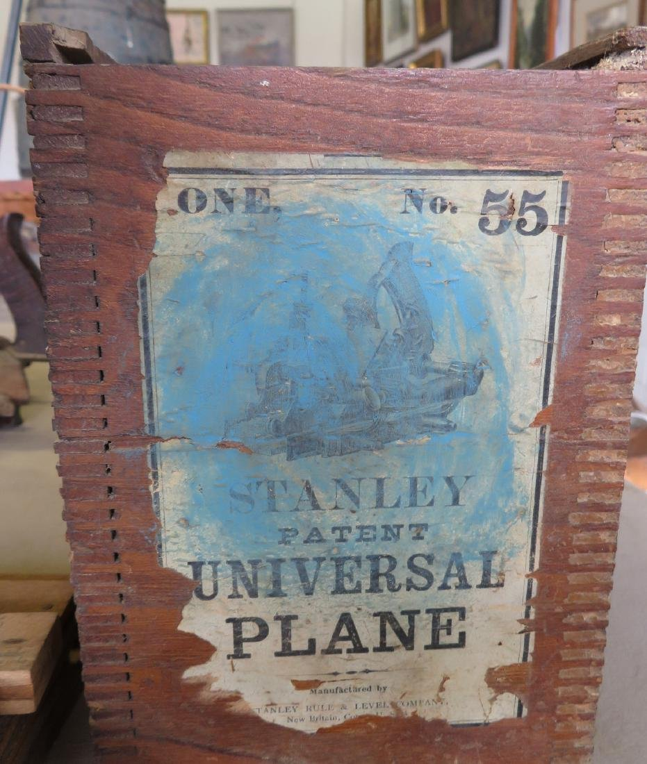 Stanley No. 55 Universal Plane in original box with 4 - 2