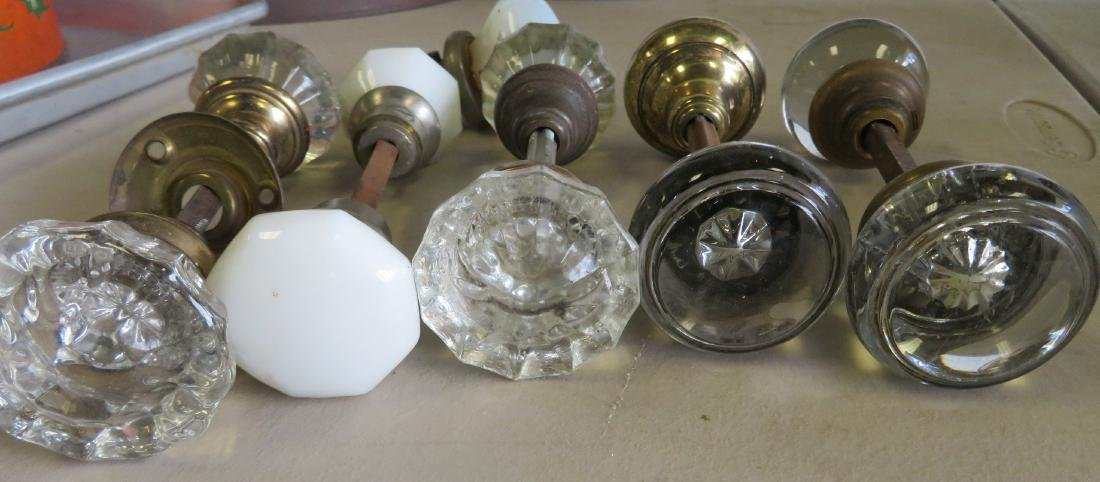 Grouping of 5 complete door knobs and one partial - 2