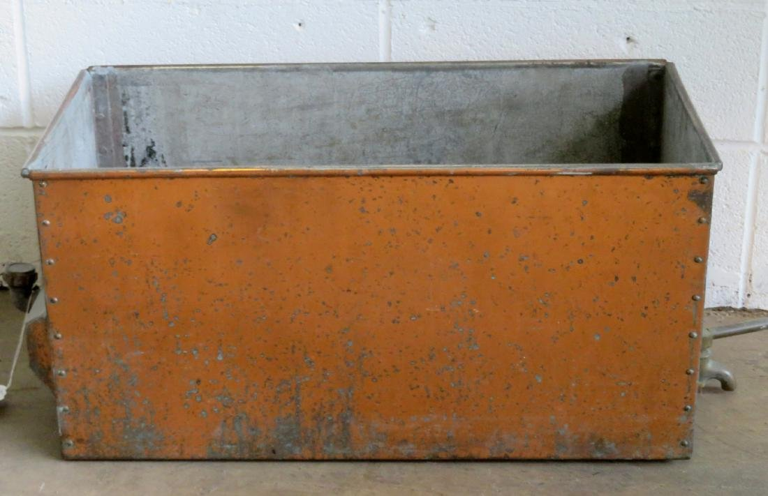 """Large copper box with drain. Late 19th century. 24""""L x"""