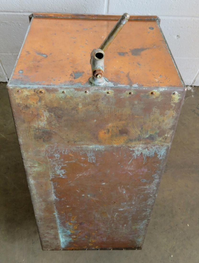 """Large copper box with drain. Late 19th century. 24""""L x - 3"""