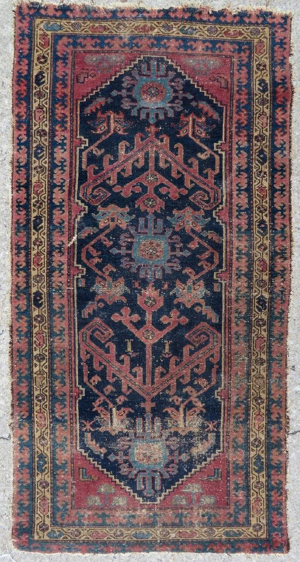"""Oriental scatter rug, 6' 2"""" x 3' 1"""". Some use wear,"""