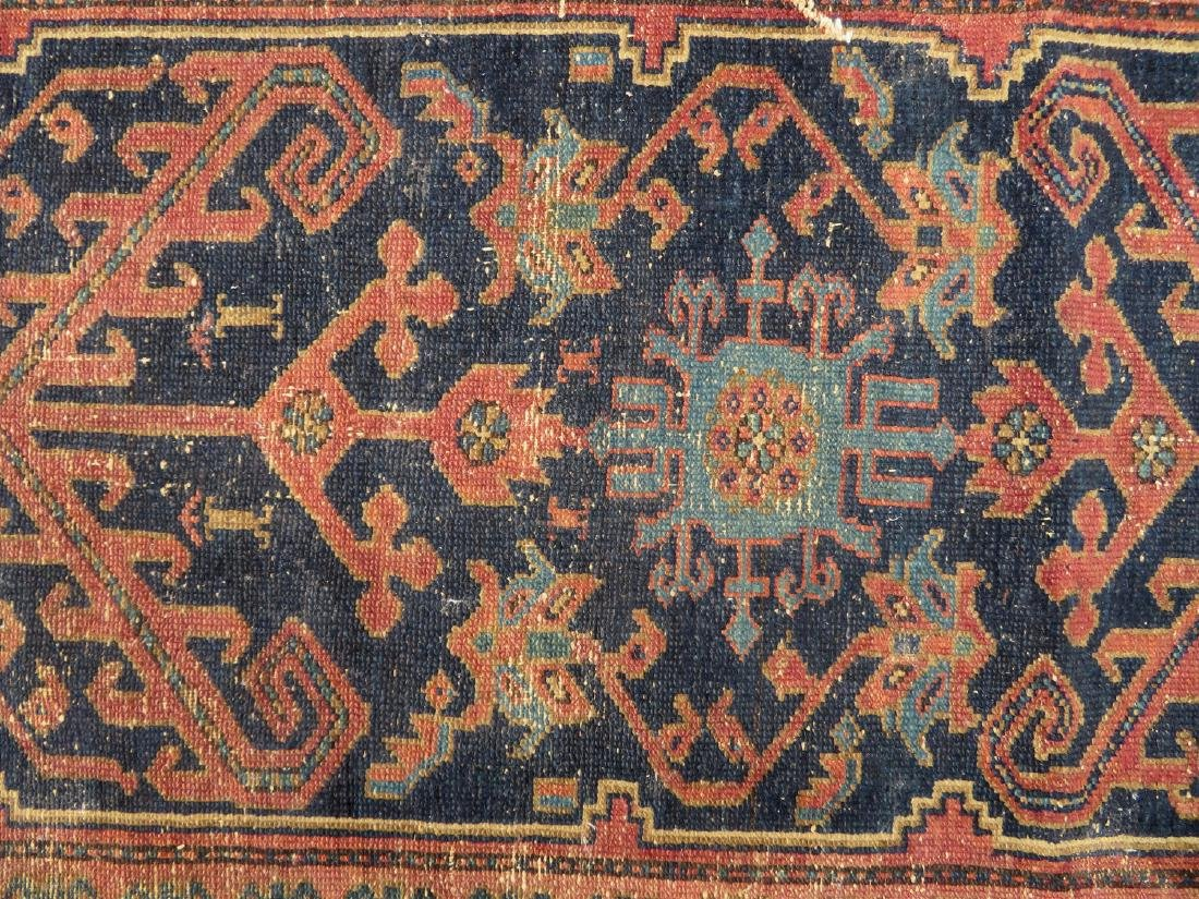 """Oriental scatter rug, 6' 2"""" x 3' 1"""". Some use wear, - 2"""