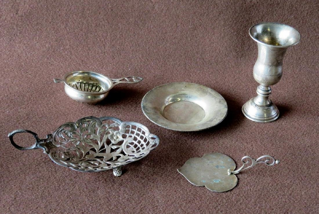 Grouping of 5 sterling silver accessories including an