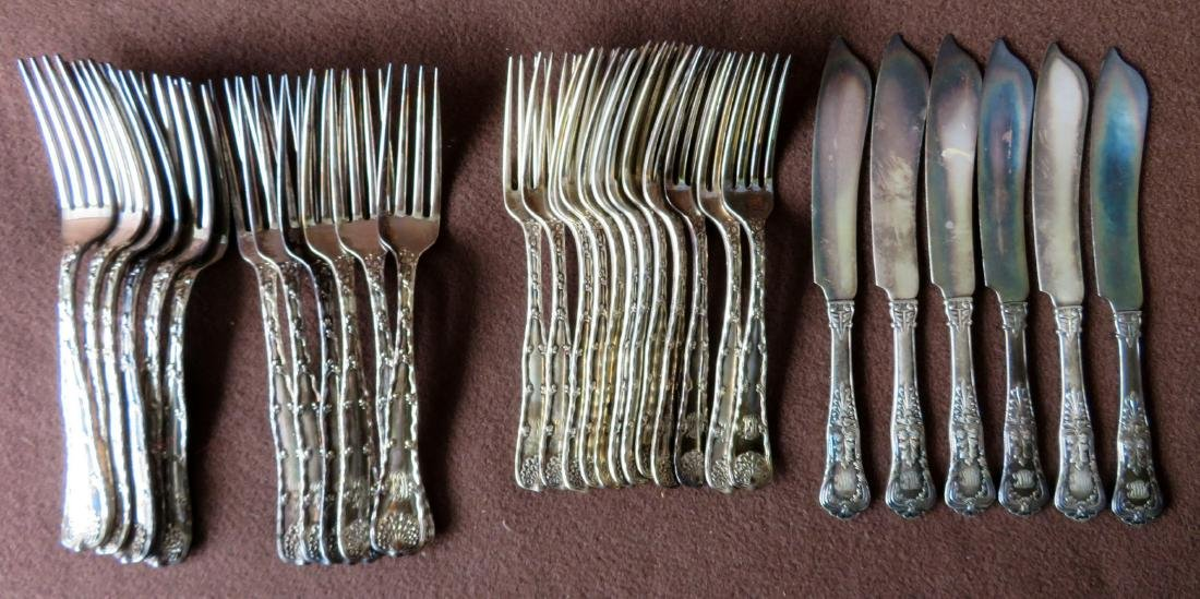 Set of 24 pieces of Tiffany & Co. Sterling flatware in