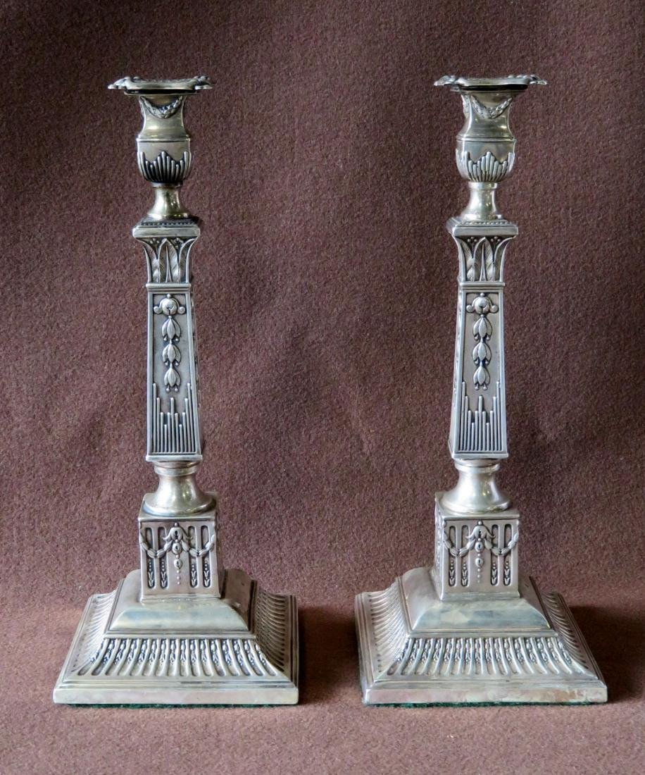 A pair of classical architectural Russian silver