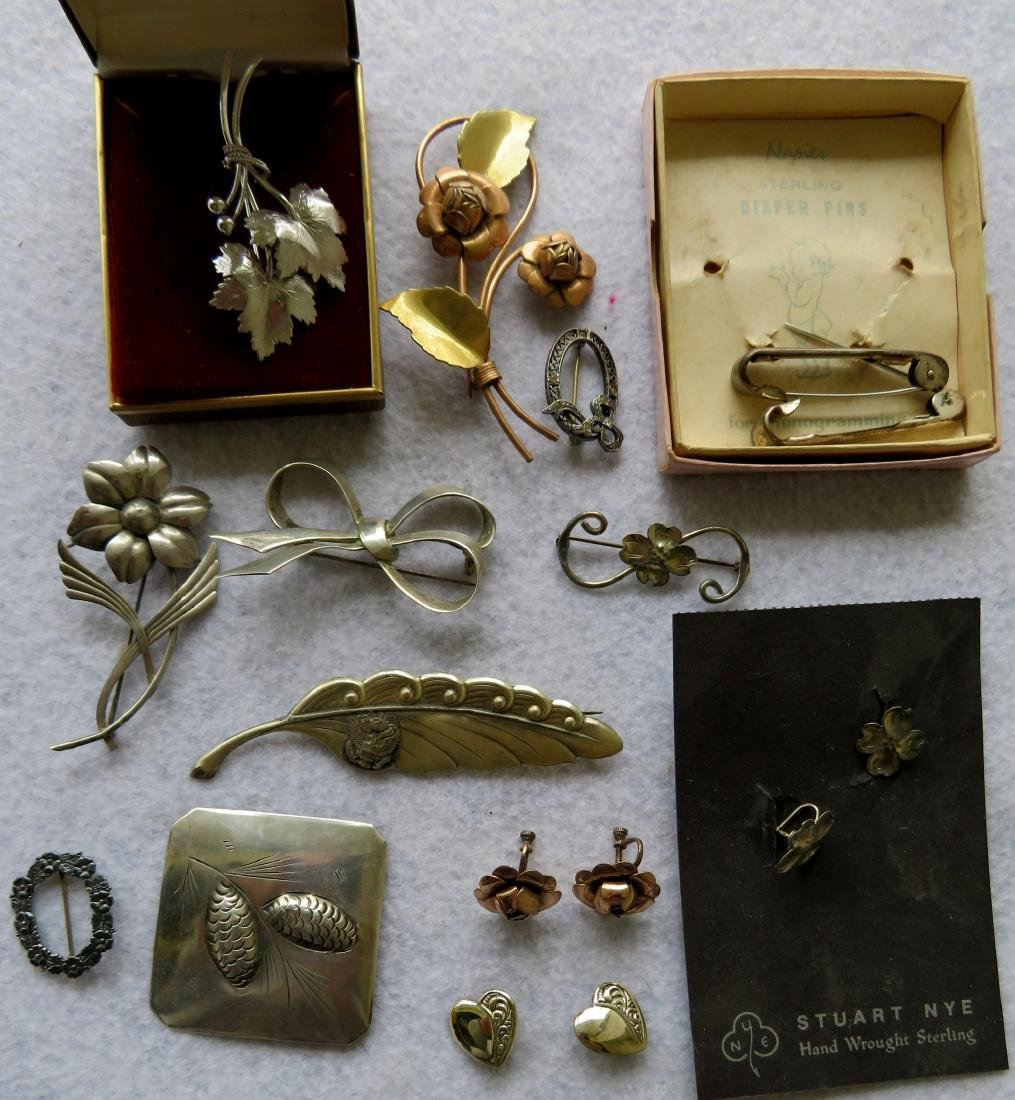 Grouping of Sterling jewelry, all in good condition
