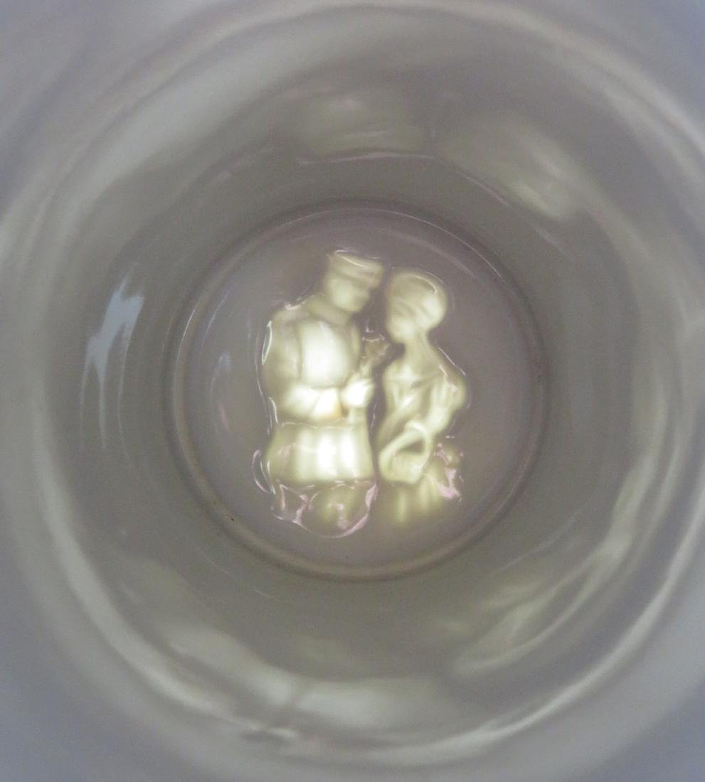 Two German regimental porcelain lithopane steins with - 6
