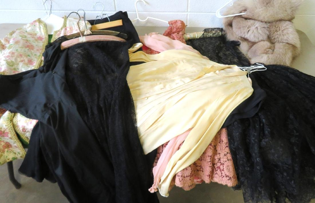 Grouping of lady's garments including 2 black lace