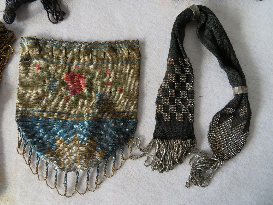 Grouping of 7 mostly Art Deco era beaded purses and - 2