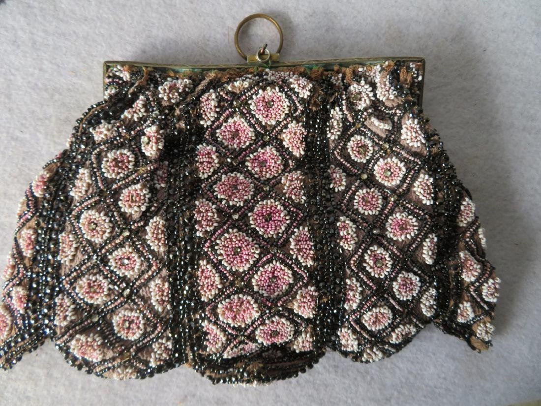 Grouping of 7 mostly Art Deco era beaded purses and - 5