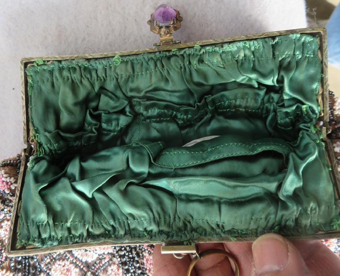 Grouping of 7 mostly Art Deco era beaded purses and - 6