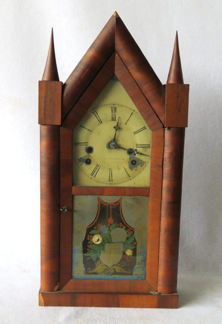Brewster and Ingrahams mahogany steeple clock, Bristol