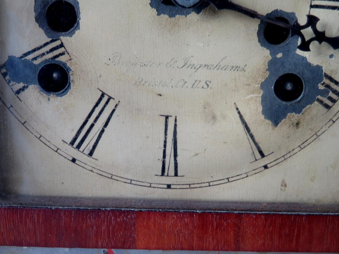 Brewster and Ingrahams mahogany steeple clock, Bristol - 2