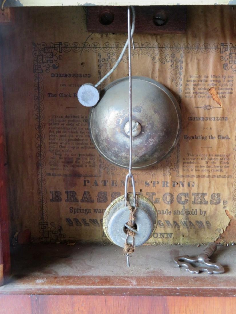 Brewster and Ingrahams mahogany steeple clock, Bristol - 4