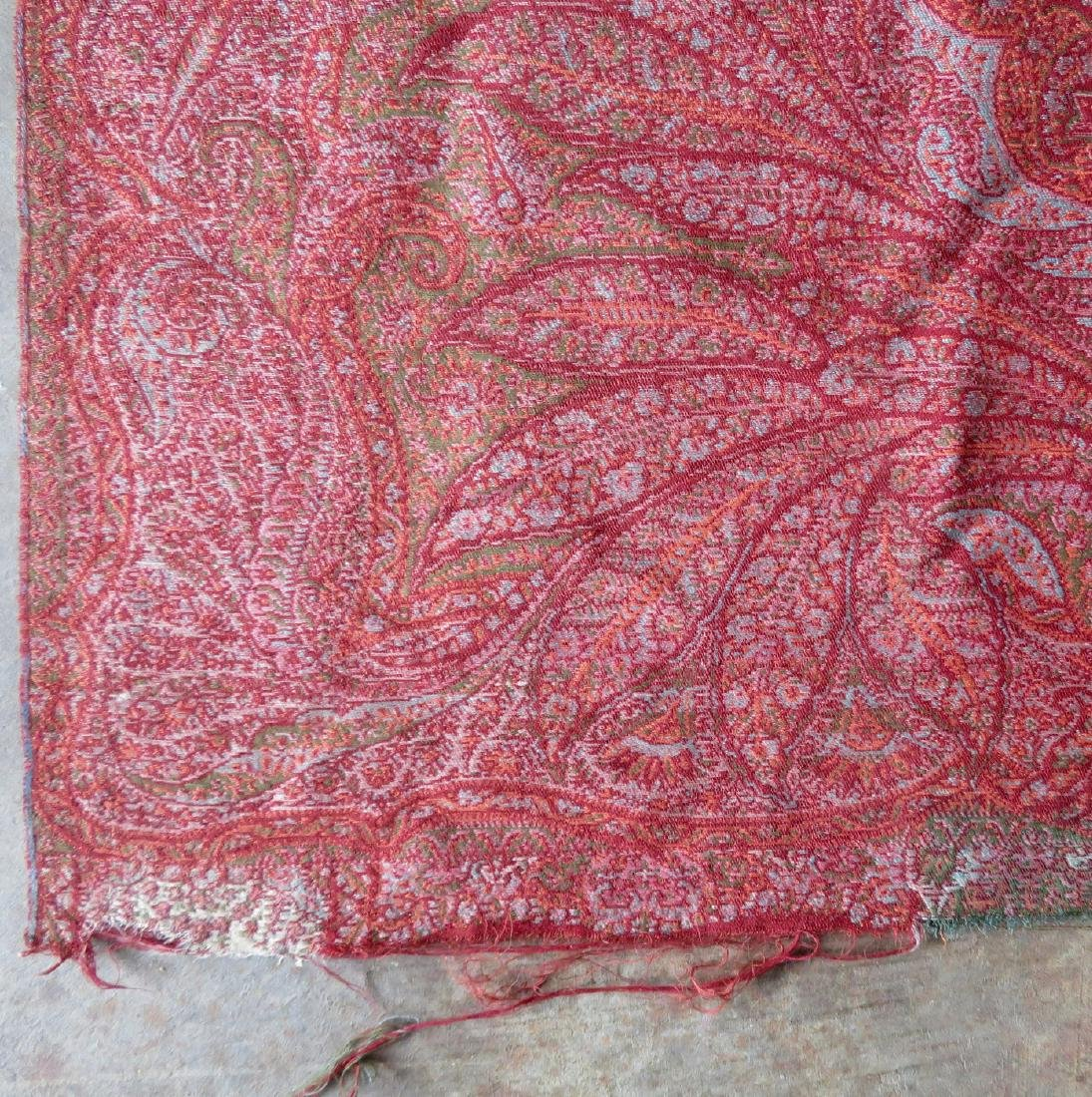 Paisley shawl - hand sewn repairs to central medallion, - 3