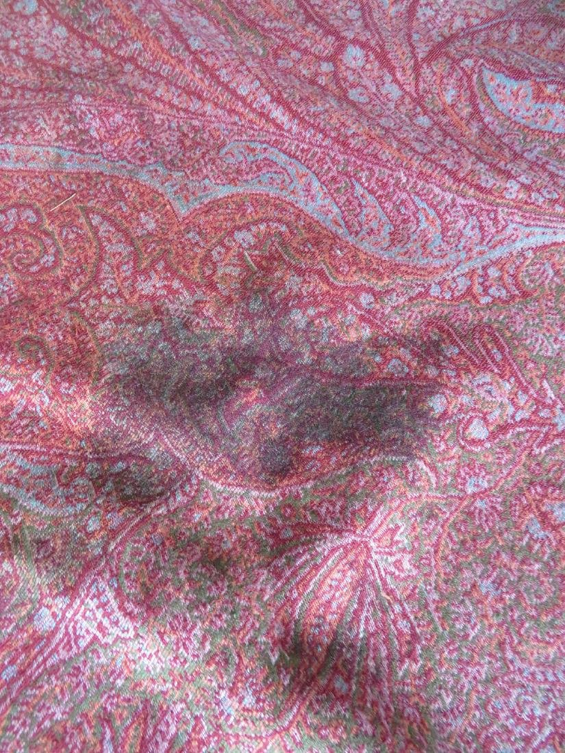 Paisley shawl - hand sewn repairs to central medallion, - 4