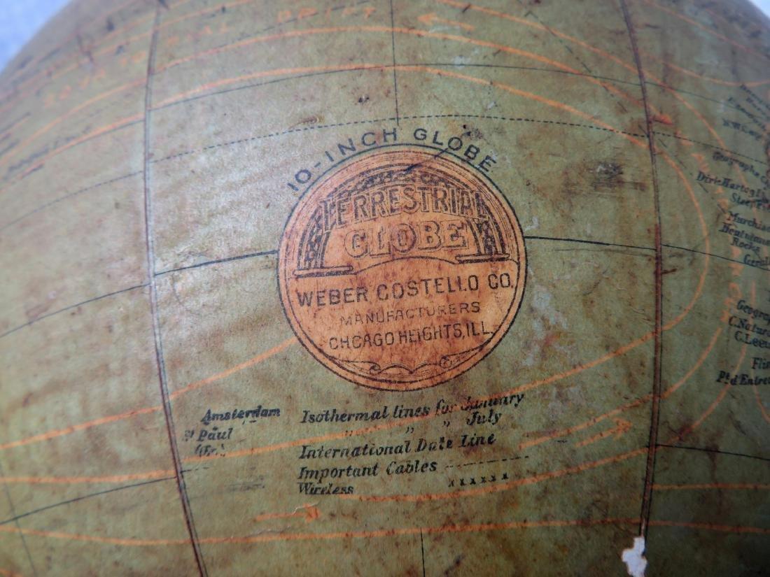 Terrestrial Globe by Weber Costello - Chicago Heights - 5