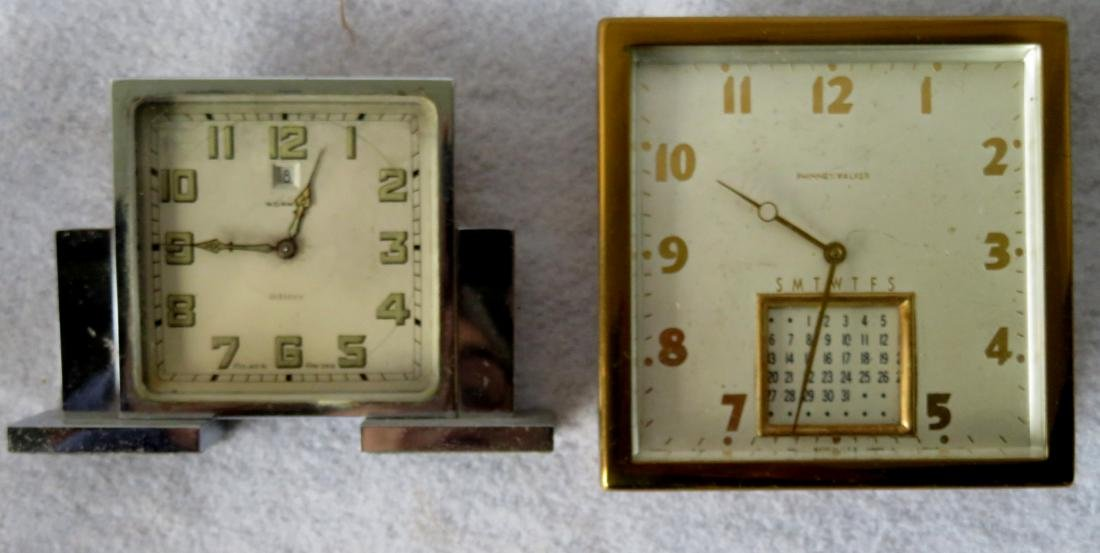 Grouping of 10 dresser and traveling clocks including 8 - 2