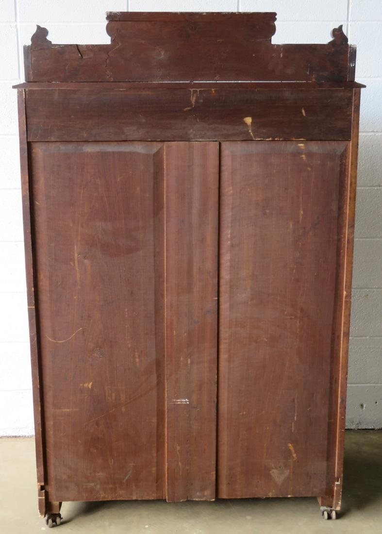 Victorian black walnut gent's chest with gallery top - 3