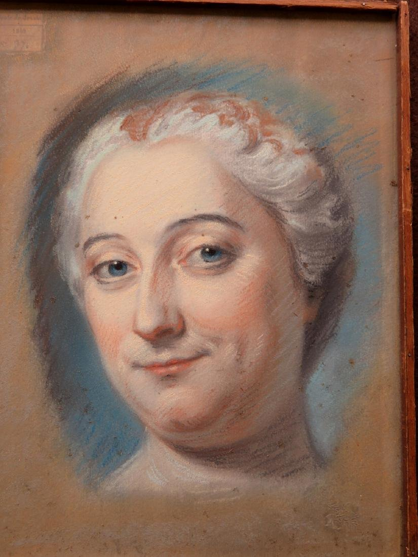 Two pastel portraits of French women, probably late - 2