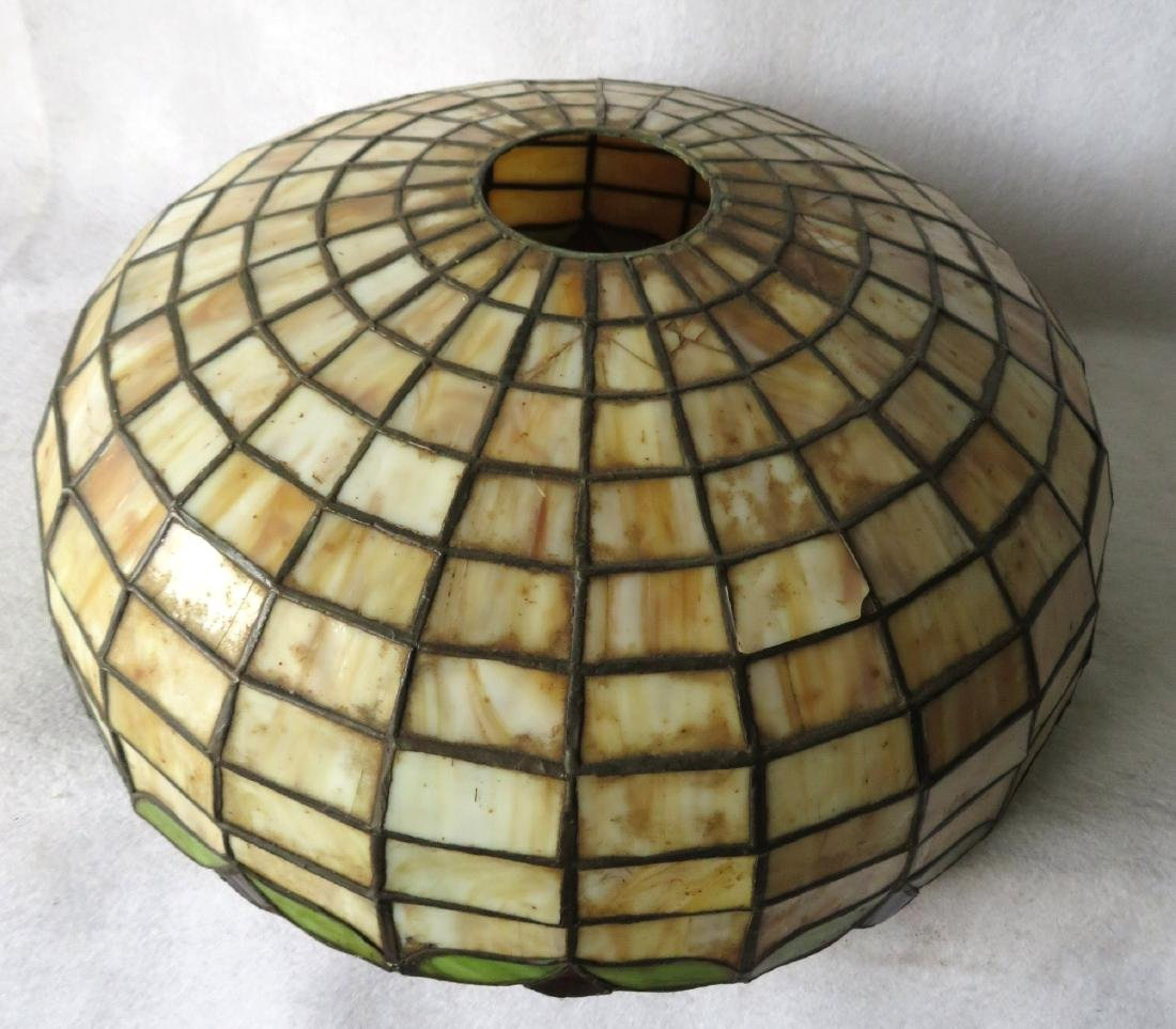 Art Nouveau table lamp with tiled geometric pattern - 6