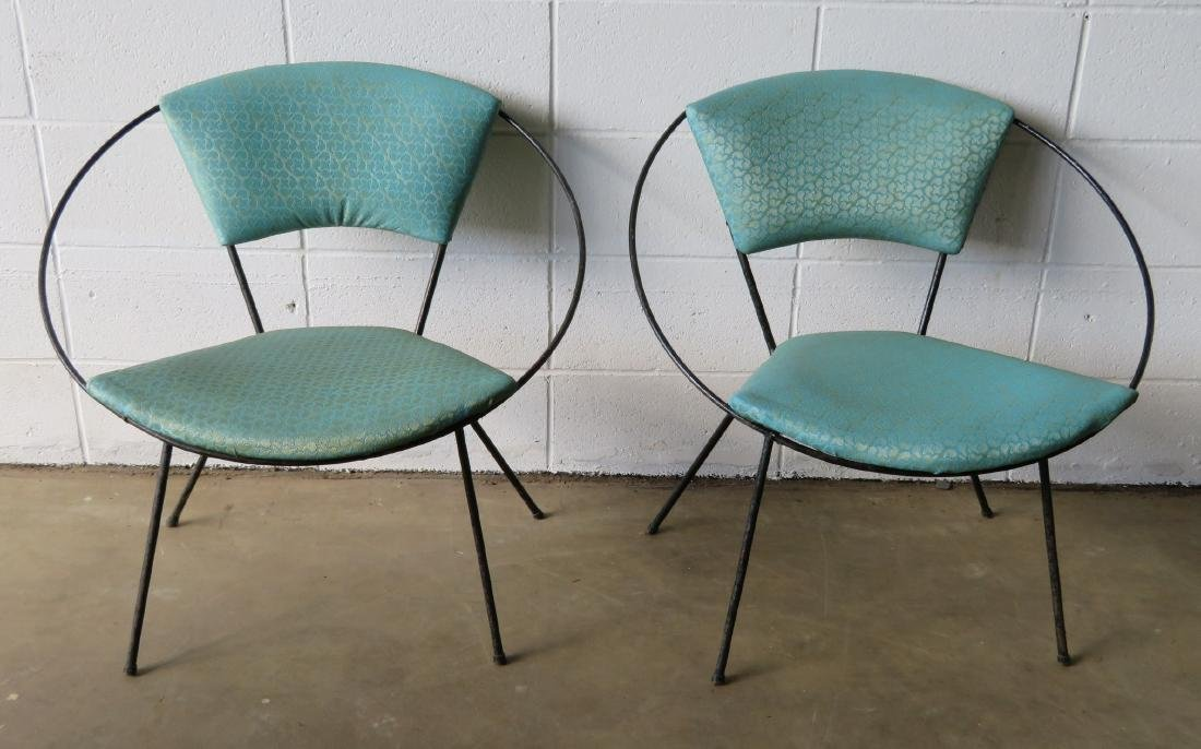 Two mid century modern Circle Chairs, attributed to