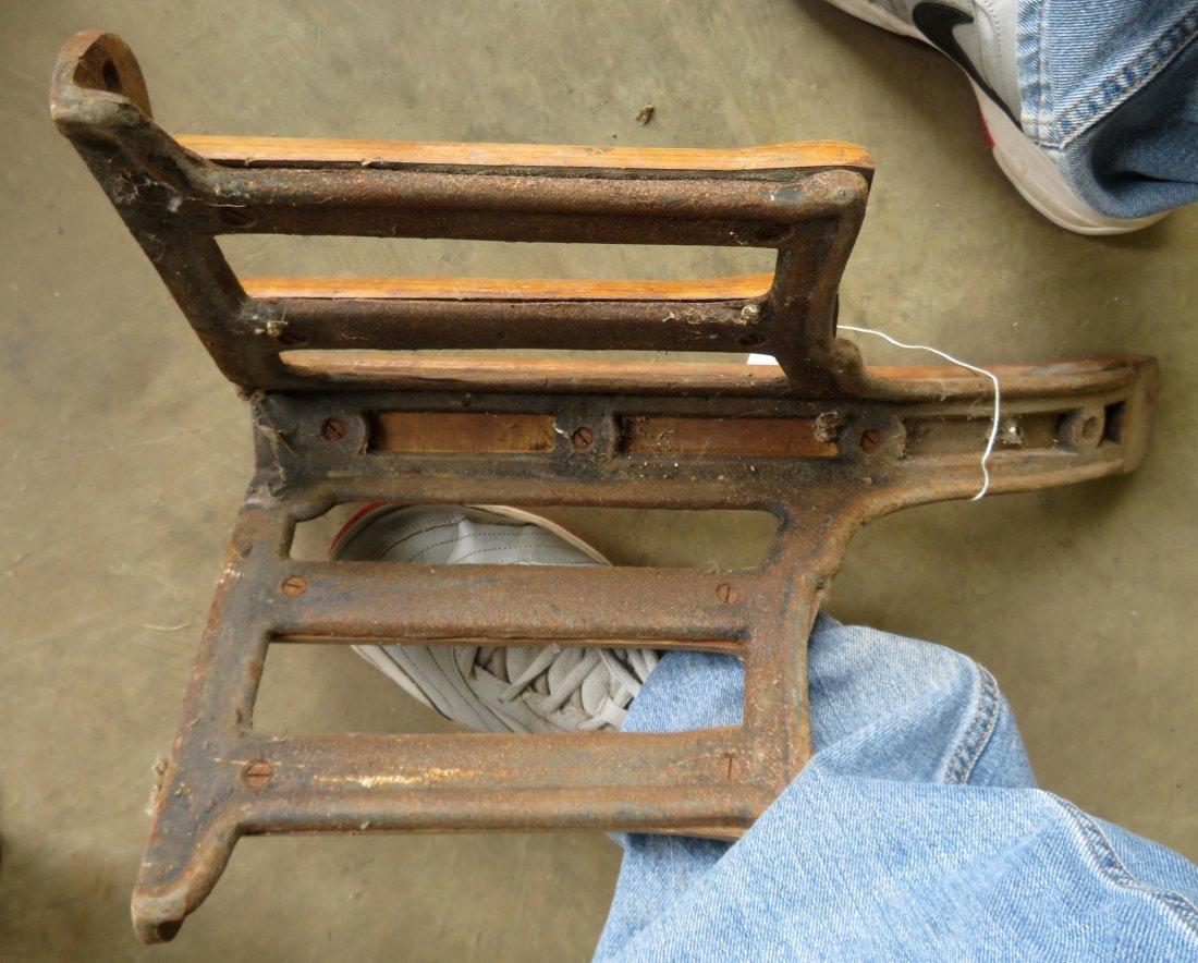 Four vintage wood & iron saddle holders. - 4