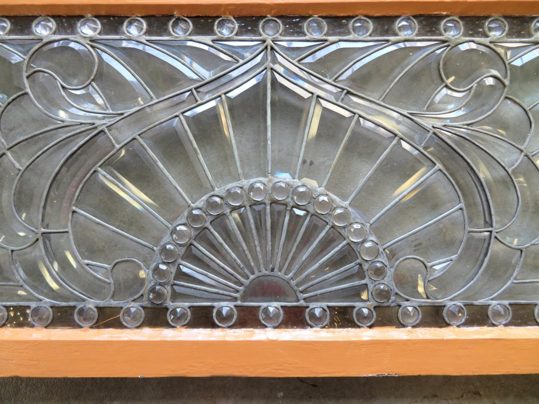 Arts and Crafts leaded and beveled glass window - 2