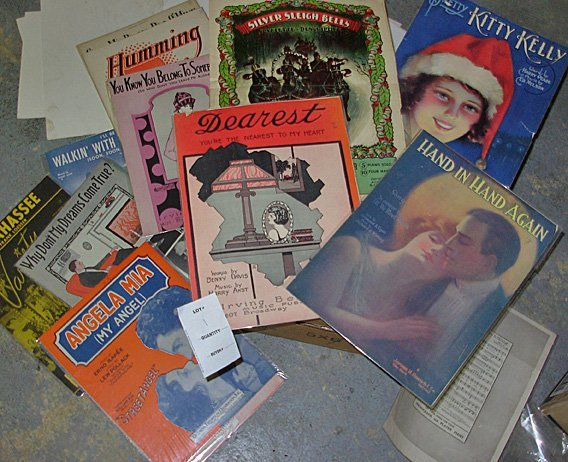 1: Large lot Vintage Sheet Music, Approx. 155 Sheets