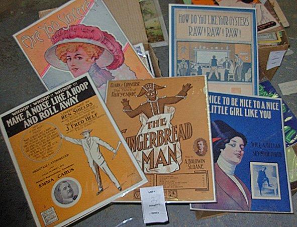 2: Large lot Vintage Sheet Music., 200+ Sheets