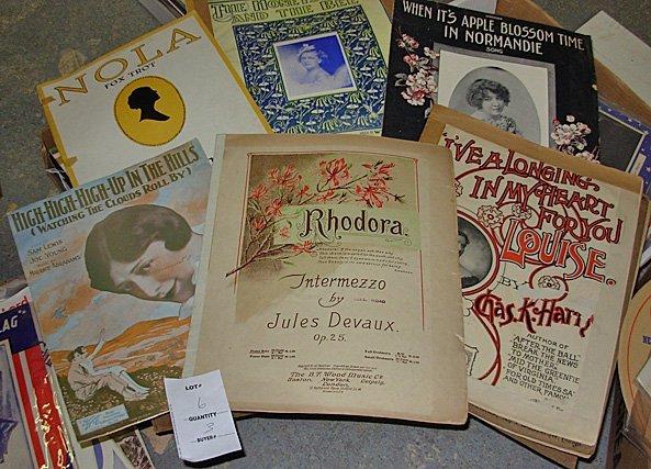 6: Large Lot Vintage Sheet Music, 200+