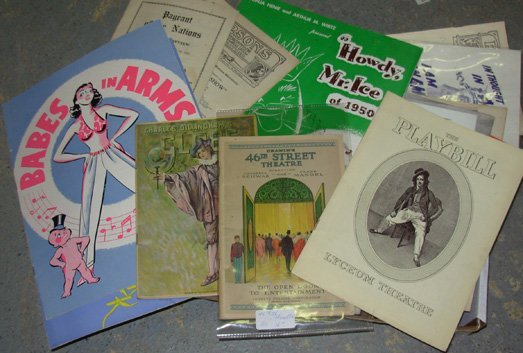 13: Vintage Playbills & Other Programs