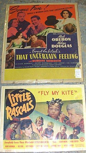 16: Movie Lobby Cards Little Rascals, Uncertain Feeling
