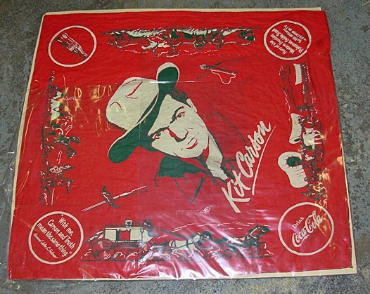 19: Kit Carson, Coca Cola Advertising Scarf.