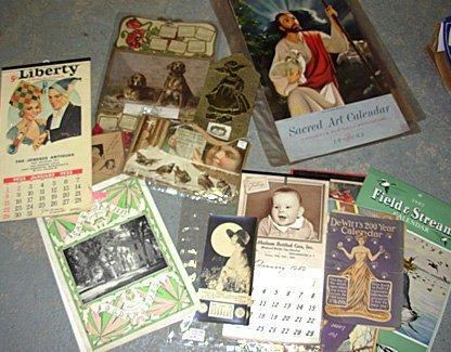 22: Lot of 45 Vintage Calendars