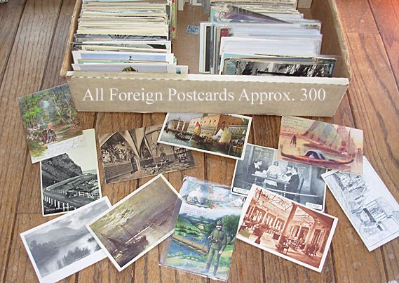 223: Foreign post card lot.