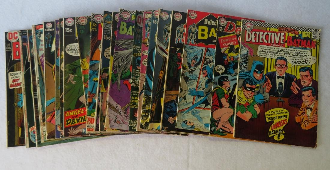 Comic books, Batman related, total of 22 including: