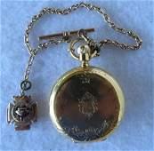 "Pocket watch, 18k,  signed ""E. Howard & Co. Boston /"