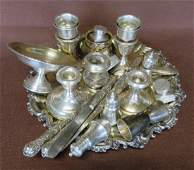 Large grouping of mostly sterling silver items, some