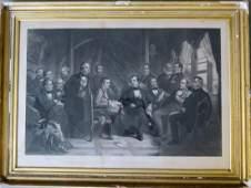 """Large folio steel engraving entitled """"Washington Irving"""