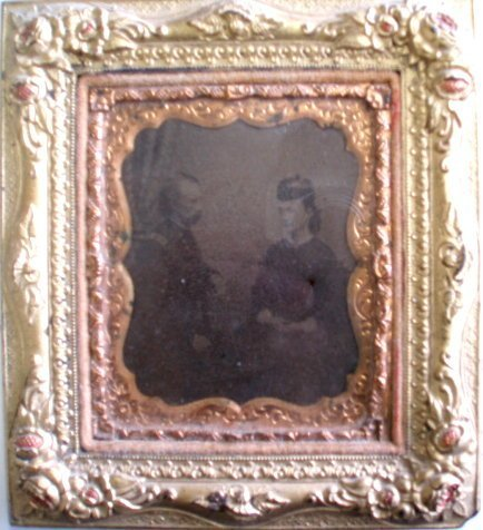 188: Sealed framed photo of General Custer and wife - i