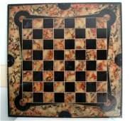 239 19th c slate gameboard in original black and spon