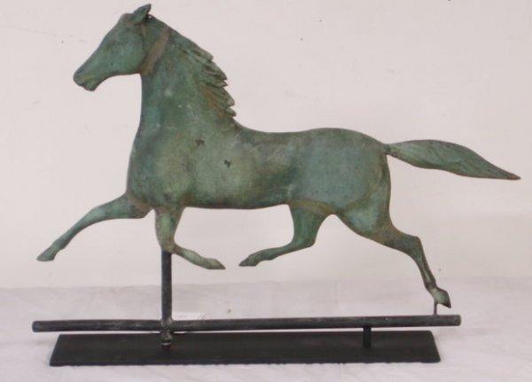 "341: Ethan Allen running horse weathervane - 23"" length"
